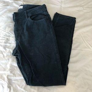 Loft Green/Blue Corduroy Curvy Skinny Pants